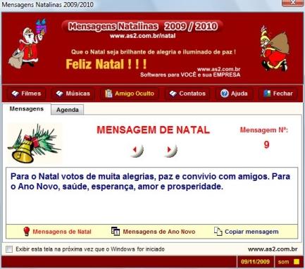 Mensagens Natalinas 2009/2010