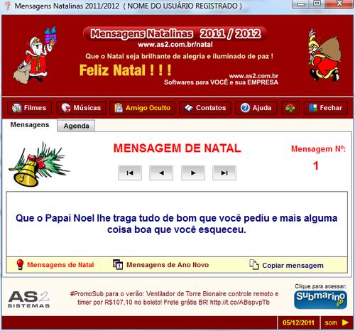 Mensagens Natalinas 2011/2012