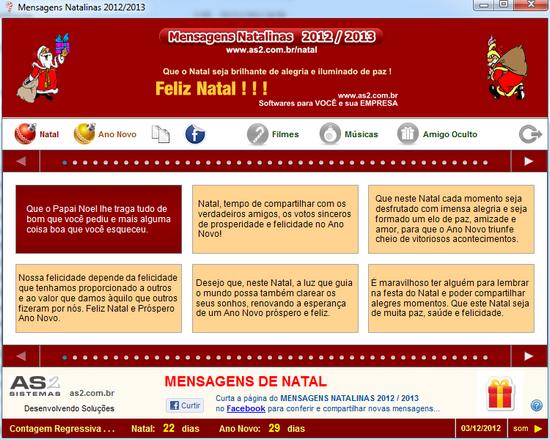 Mensagens Natalinas 2012/2013